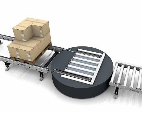 Поворотный стол, передача с роликового на цепной конвейер